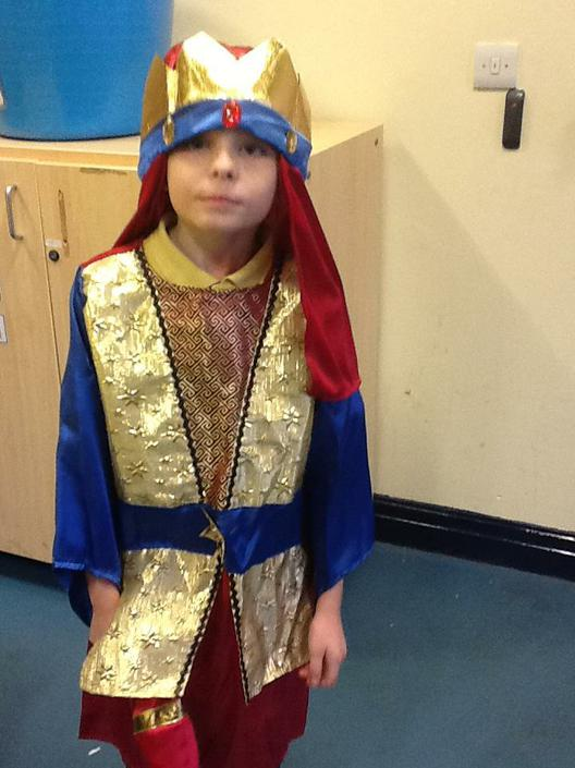 James dressed a Wise Man for the Nativity