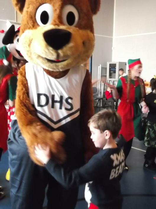 Dancing with the mascot