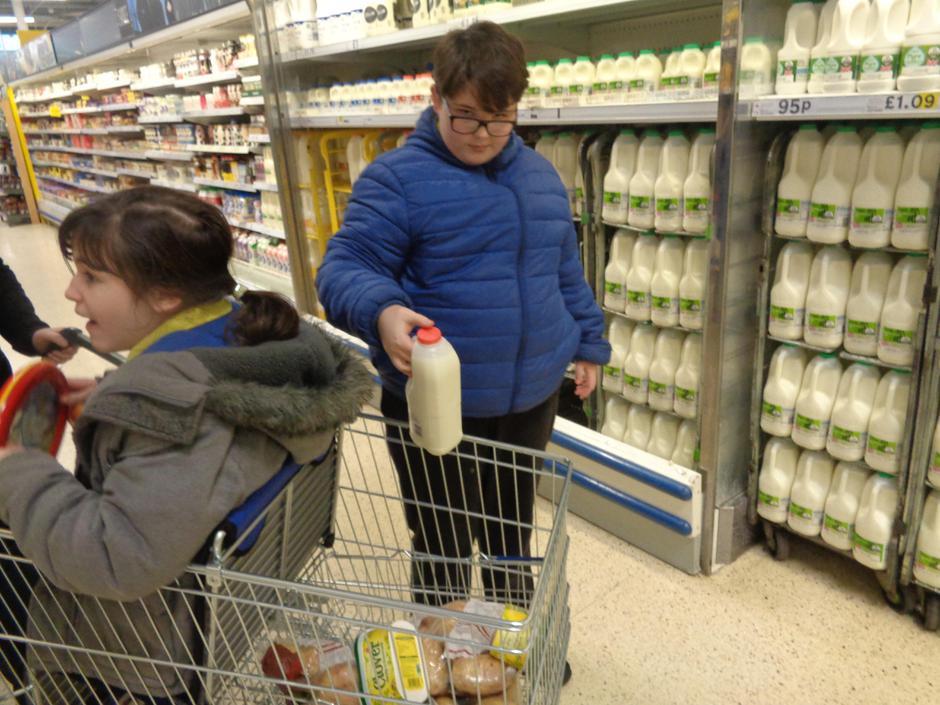 Joe got some milk for Kellie