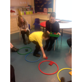 We loved playing the 'hoop game'!