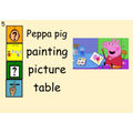 Where is Peppa Pig painting?