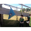 Flag time, the Scouting way.. fun and friends.