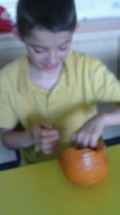 Layton exploring pumpkin textures