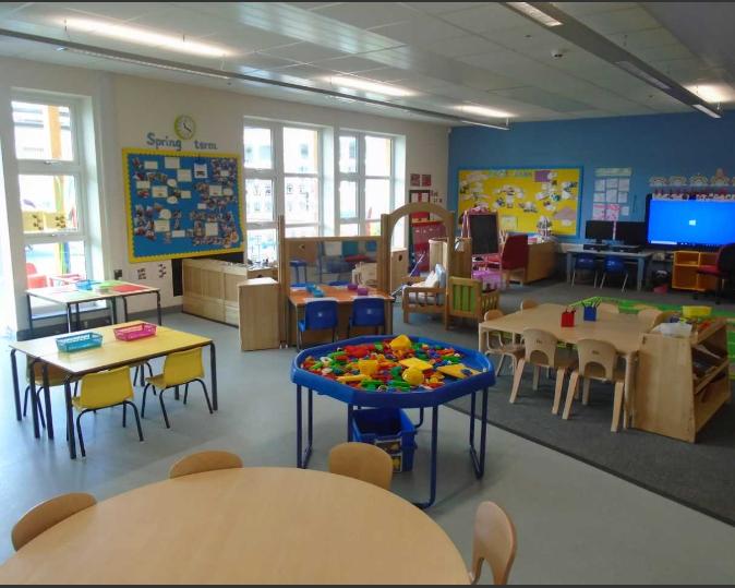 Inside Rowley Hall Pre-school