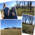 Finn, Jamie and Megan visited a Bronze Age site
