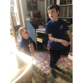 Archie and Maisie doing PE