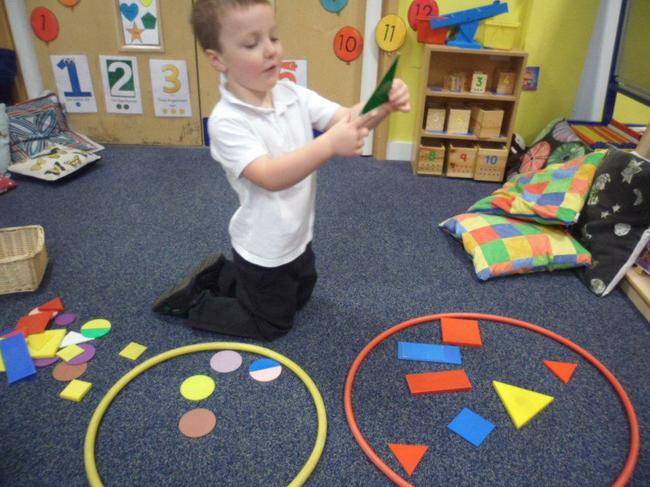 Sorting shapes based on their properties