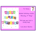 Belated birthday wishes Amna