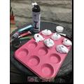 Alanna's shaving foam cakes!.JPG