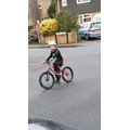 Freddie has learned to ride his bike! Amazing!