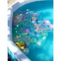 Leo's lovely balloon pool :)