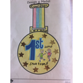 Theo's lovely sports day medal