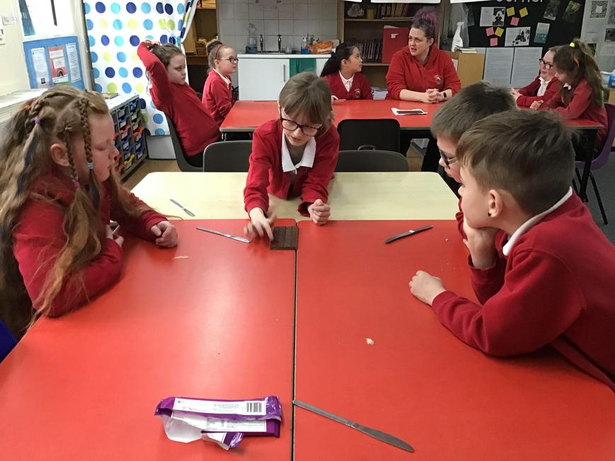 Using chocolate bars to model fractions