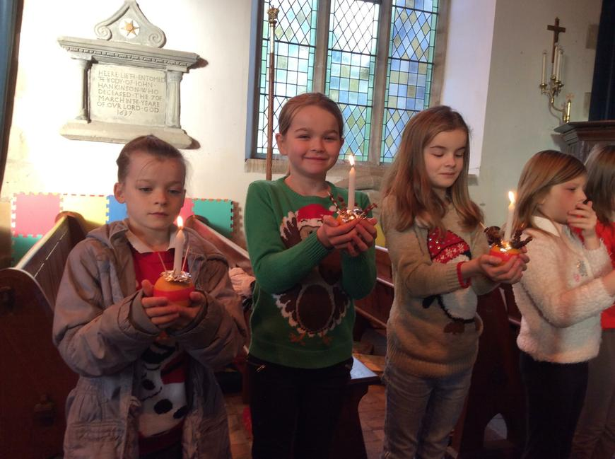 Christingle service for the whole school Dec 2017