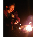 Marshmallow toasting and stargazing...