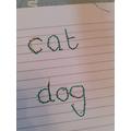 Ben's handwriting