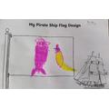 Misty's mermaid and ice cream pirate flag