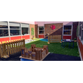 The Year One Quad area has been refurbished and is now a more practical space for learning