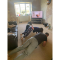 Front room work out with Joe