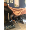 Building dens with Georgie & Sophie