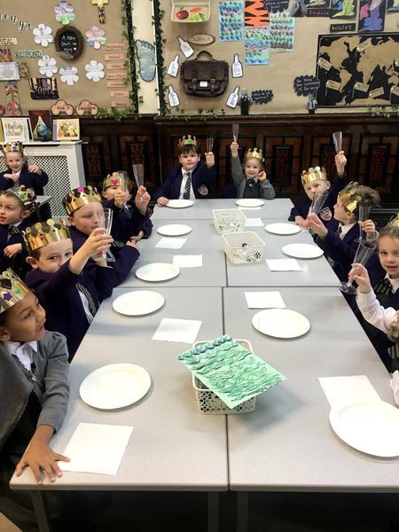 Year 2 ready for their feast!