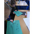Sewing 'Creation' pictures in KS2