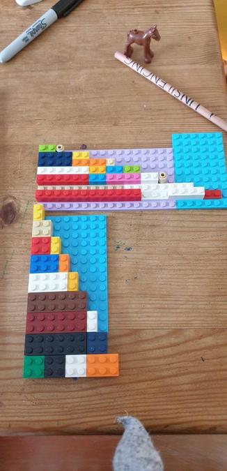 Look at this!! Times tables with Lego  Can you guess which ones have been done?