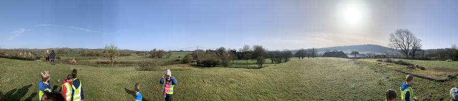 A panoramic view from the Motte and Bailey castle remains