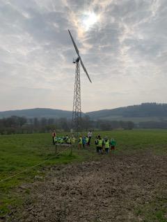 The wind turbine is HUGE!!