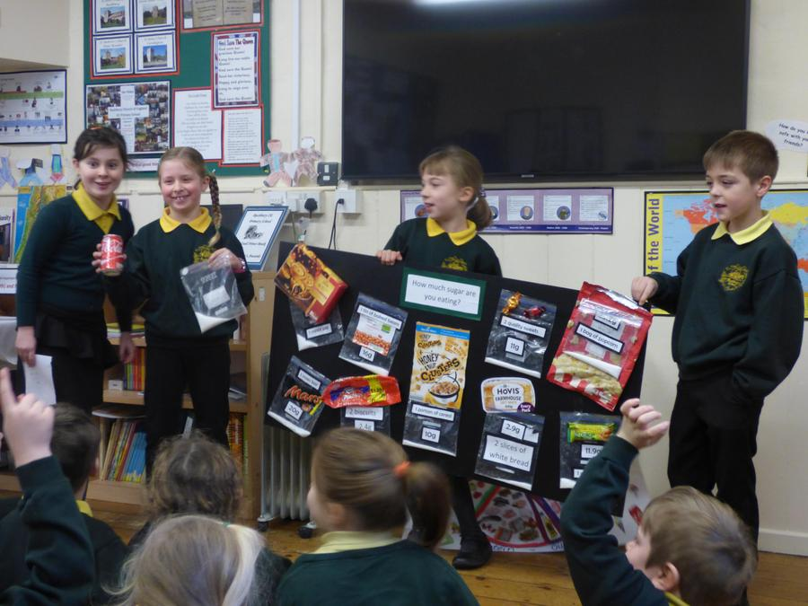 We learnt a lot from this healthy eating assembly.