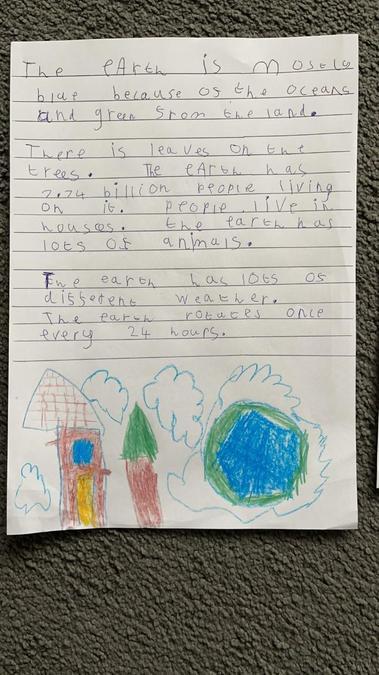 An alien describing earth!