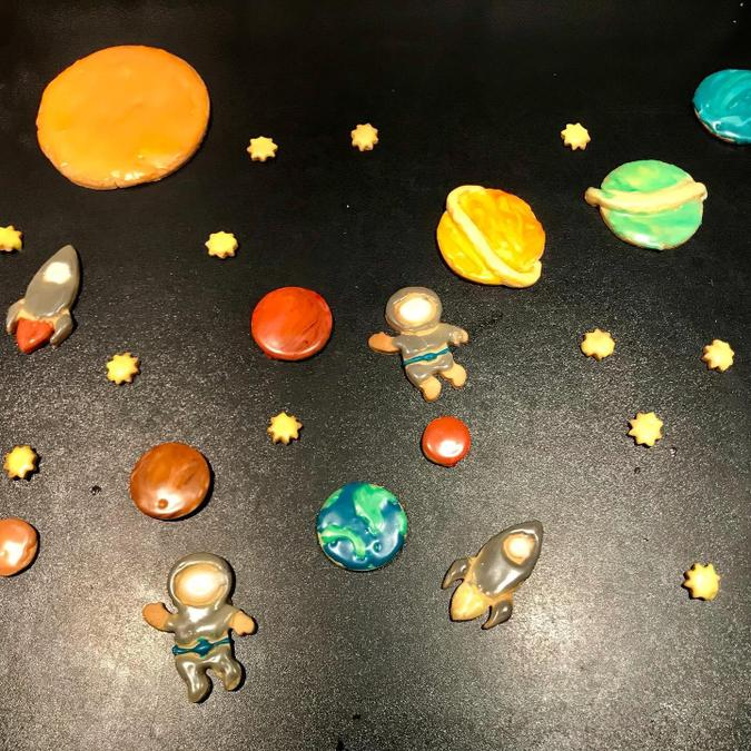 WOW! Have you ever seen such amazing space cookies?
