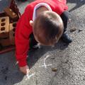 Practising letter formation.