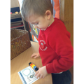 Practising addition.