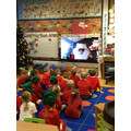 Video conference from The North Pole.