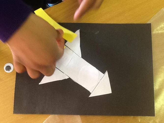 We cut shapes....