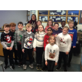 On Friday, we wore our Christmas jumpers to celebrate Christmas jumper day.