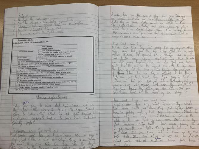 This week, the children have written brilliant information texts about the Anglo-Saxons!