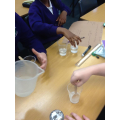 We created our own investigations testing how changing variables can affect dissolving.