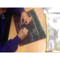 We created our own scratch art of European landmarks