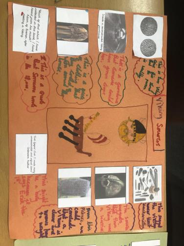 We used historical sources to learn about the Vikings.