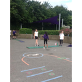 We also tested to see who had the furthest distance in standing long jump.