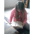 For World Book Day, we took part in the silent reader challenge..