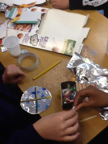We made our own Anglo-Saxon jewelry.