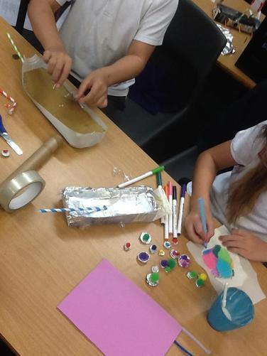 We built our own Viking longships!