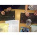 We created our own scratch art of European landmarks.