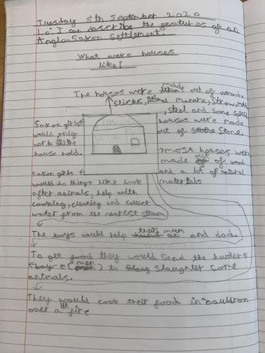 In topic, we looked at what Anglo-Saxon houses were like.