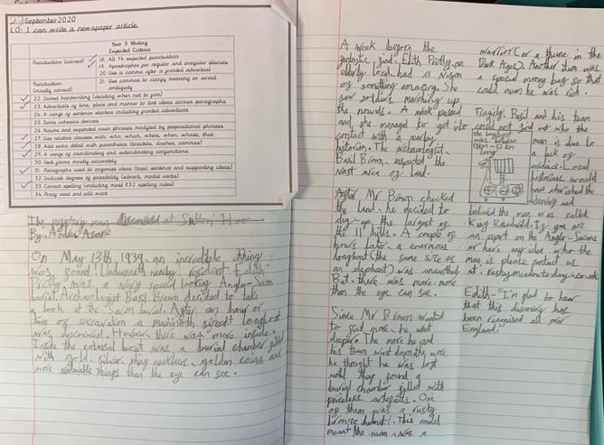 An example of the brilliant newspaper reports we have written this week about Sutton Hoo.