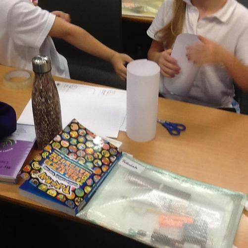 In PSHE, we made paper towers in 5 minutes to reflect on what makes good team work.