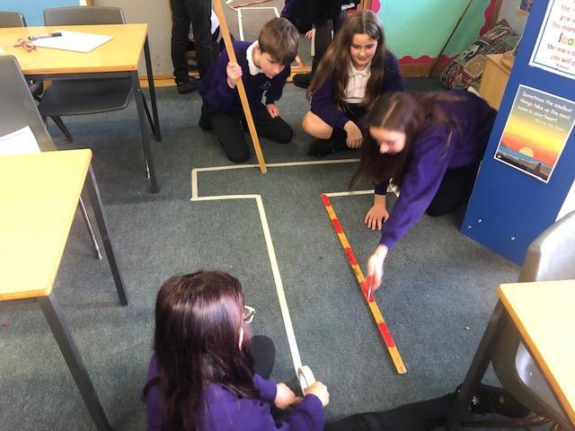Maths - area and perimeter of compound shapes